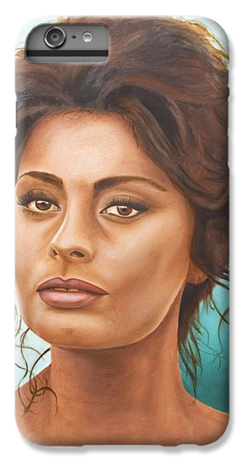 Moviestar IPhone 6 Plus Case featuring the painting Sophia Loren by Rob De Vries