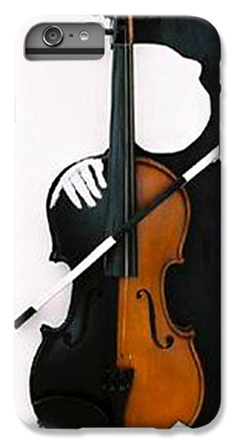 Violin IPhone 6 Plus Case featuring the sculpture Soul Of Music by Steve Karol
