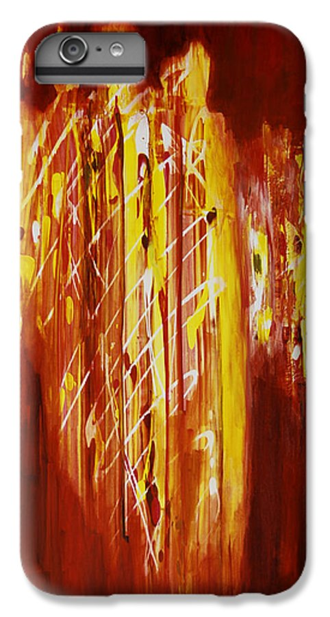 Abstract IPhone 6 Plus Case featuring the painting Soul Train by Tara Moorman