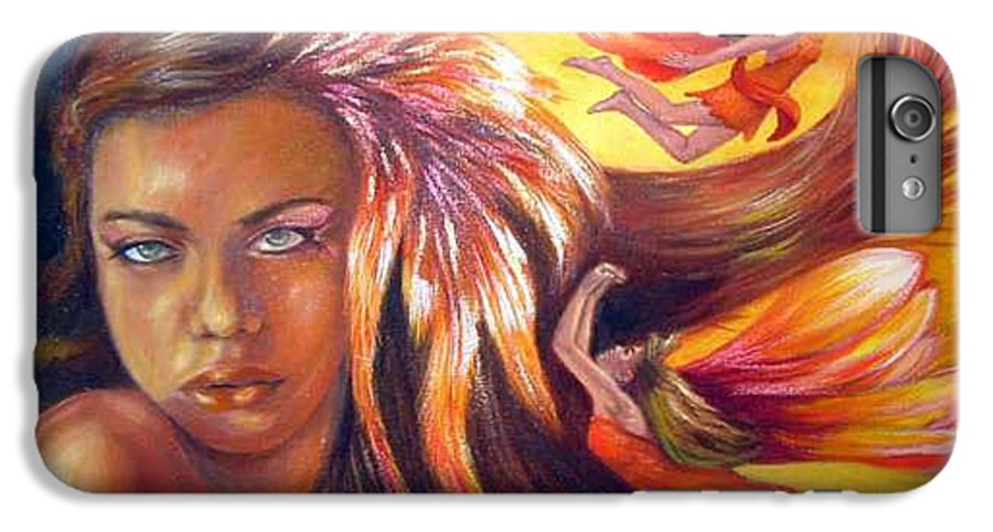 IPhone 6 Plus Case featuring the painting Soulfire by Anne Kushnick