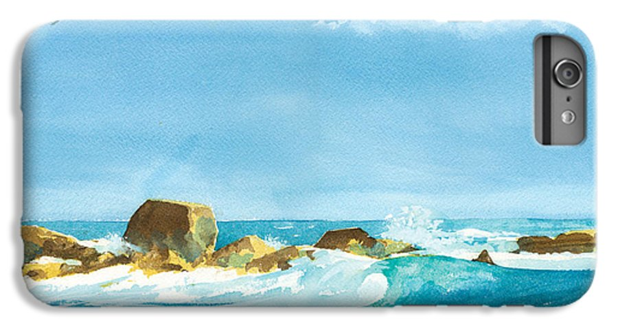 Waves IPhone 6 Plus Case featuring the painting Sound Of Surf by Ray Cole