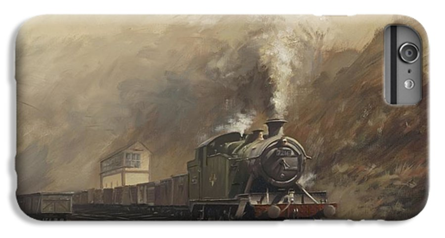Steam IPhone 6 Plus Case featuring the painting South Wales Coal Train by Richard Picton
