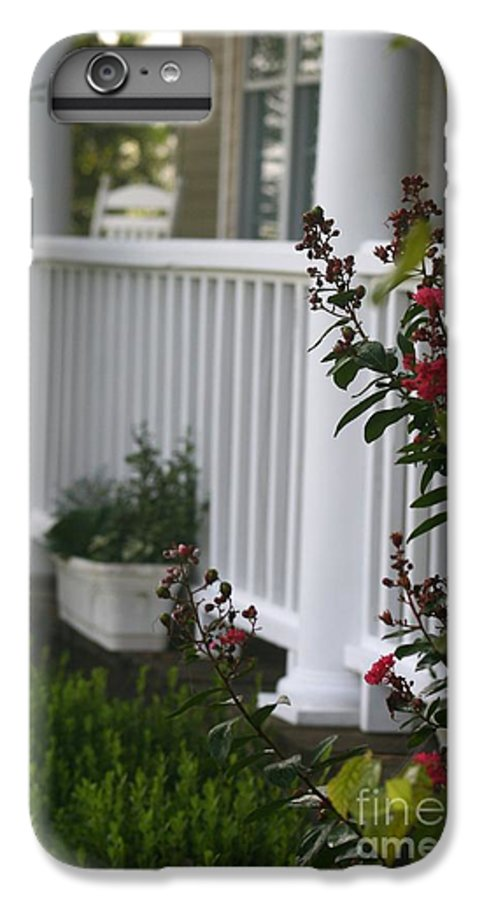 Summer IPhone 6 Plus Case featuring the photograph Southern Summer Flowers And Porch by Nadine Rippelmeyer