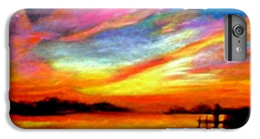 Sunset IPhone 6 Plus Case featuring the painting Southern Sunset by Gail Kirtz