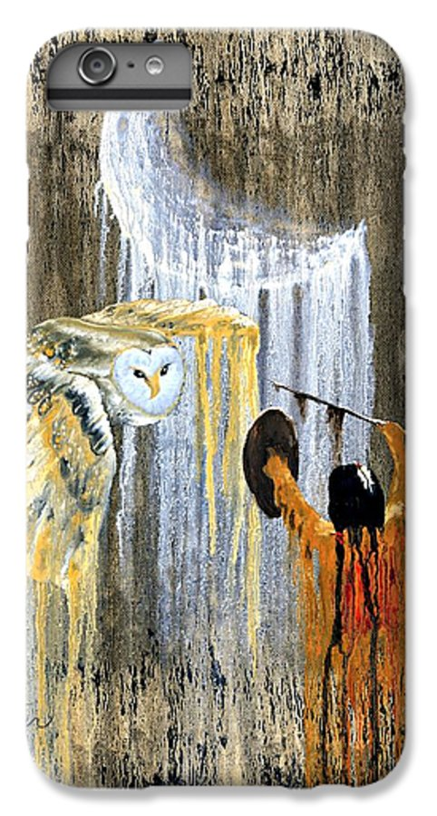 Indian Art IPhone 6 Plus Case featuring the painting Spirit Of The Night by Patrick Trotter