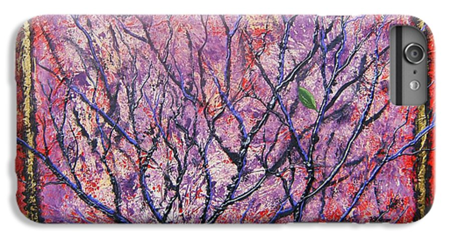 Nature IPhone 6 Plus Case featuring the painting Spirit Tree 6 by Tami Booher