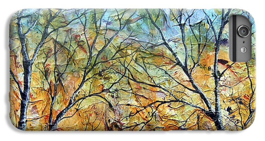 IPhone 6 Plus Case featuring the painting Spirit Trees 7 by Tami Booher