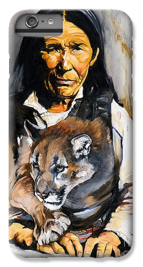 Spiritual IPhone 6 Plus Case featuring the painting Spirit Within by J W Baker