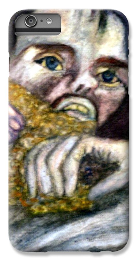 Spiritual Portrait IPhone 6 Plus Case featuring the painting Sponge Christ Your Eyes by Stephen Mead