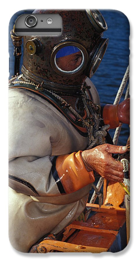 Hard Hat IPhone 6 Plus Case featuring the photograph Sponge Diver by Carl Purcell
