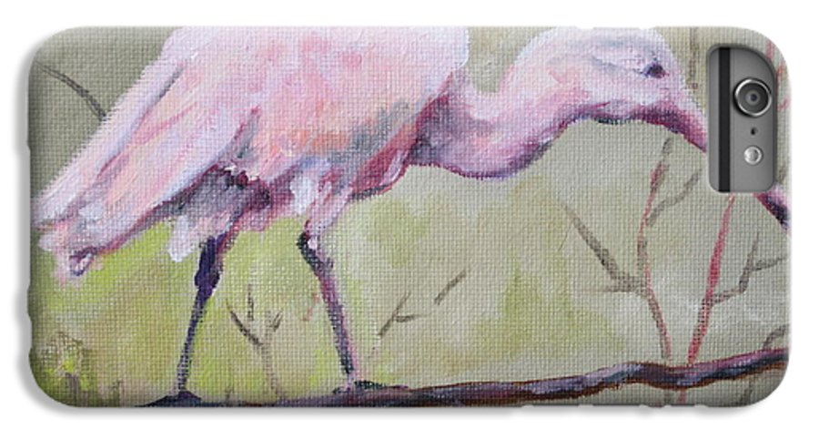 Bird IPhone 6 Plus Case featuring the painting Spoonbill by Carol Mueller