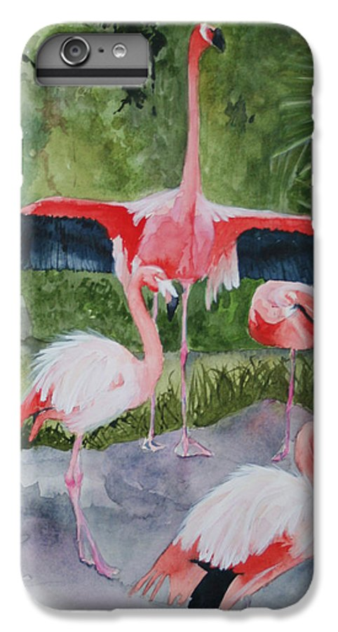 Wings IPhone 6 Plus Case featuring the painting Spreading My Wings by Jean Blackmer