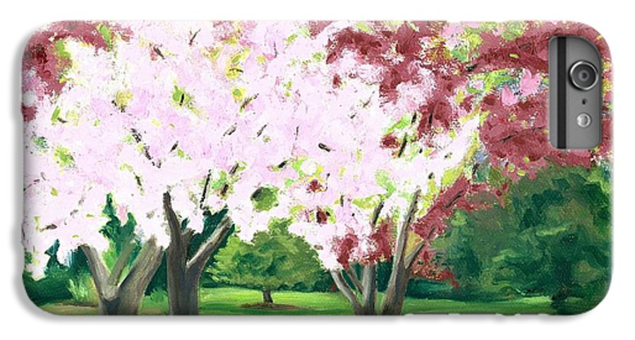 Spring IPhone 6 Plus Case featuring the painting Spring At Osage Land Trust by Paula Emery
