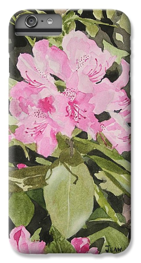 Flowers IPhone 6 Plus Case featuring the painting Spring At The Cabin by Jean Blackmer