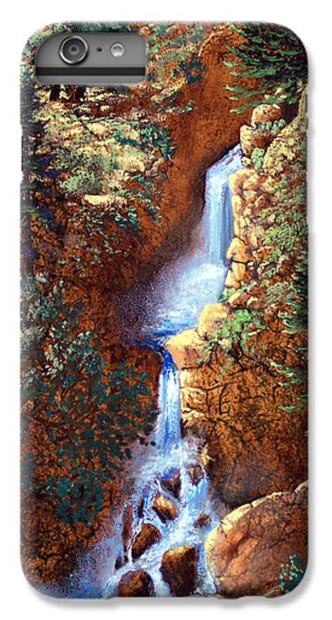 Wilderness IPhone 6 Plus Case featuring the painting Spring Cascade by Frank Wilson