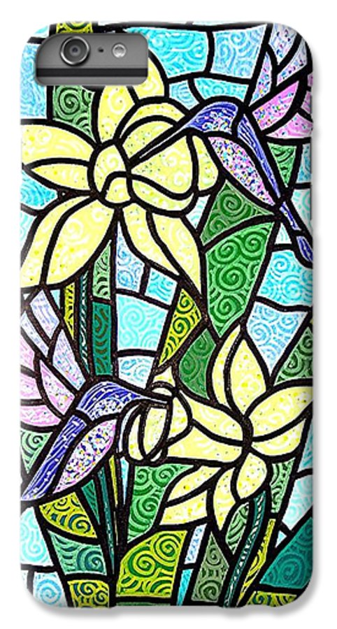 Flowers IPhone 6 Plus Case featuring the painting Spring Fling by Jim Harris