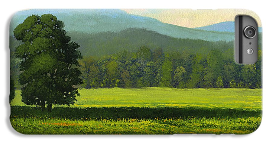 Landscape IPhone 6 Plus Case featuring the painting Spring Flowers by Frank Wilson