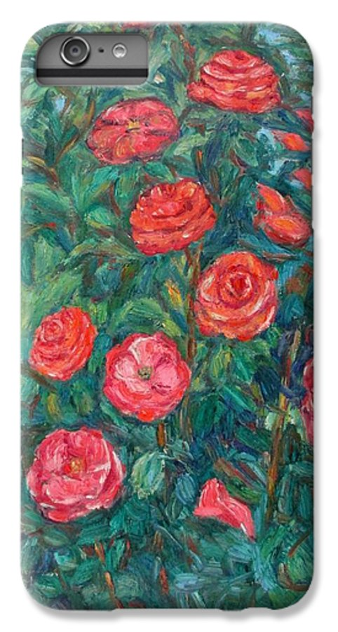 Rose IPhone 6 Plus Case featuring the painting Spring Roses by Kendall Kessler