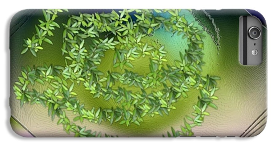 Glass.plate.leaves.salad.light.shadow.dish.kitchen.beauty.spring. IPhone 6 Plus Case featuring the digital art Spring Salad On Glass Plate by Dr Loifer Vladimir