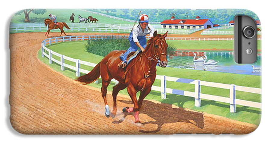 Western Artist IPhone 6 Plus Case featuring the painting Spring Training by Howard Dubois