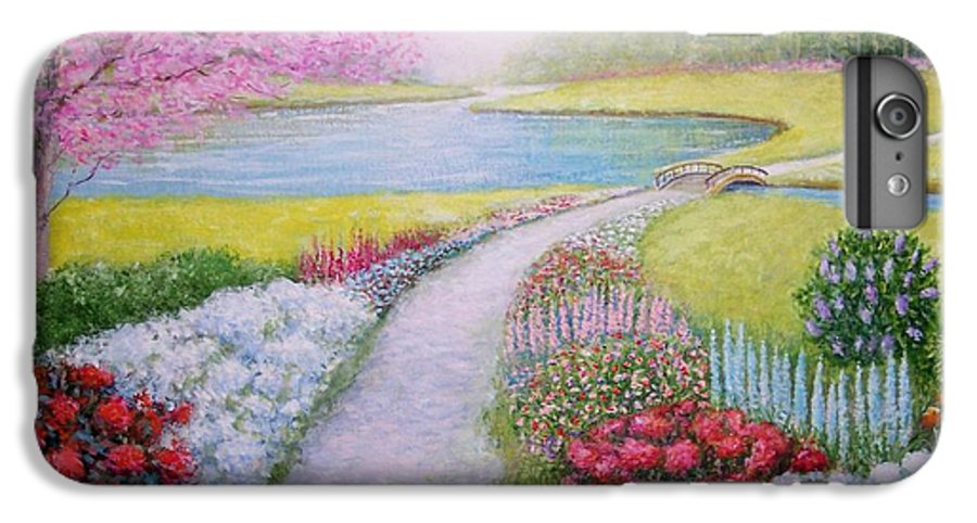 Landscape IPhone 6 Plus Case featuring the painting Spring by William H RaVell III