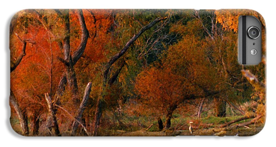 Landscape IPhone 6 Plus Case featuring the photograph Squaw Creek Egrets by Steve Karol