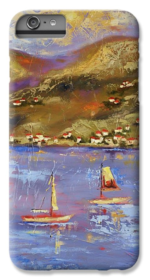St. John IPhone 6 Plus Case featuring the painting St. John Usvi by Ginger Concepcion
