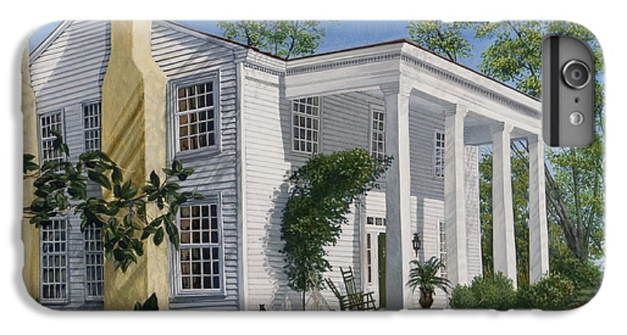 Landscape IPhone 6 Plus Case featuring the painting Stagecoach Inn Madison Georgia by Peter Muzyka