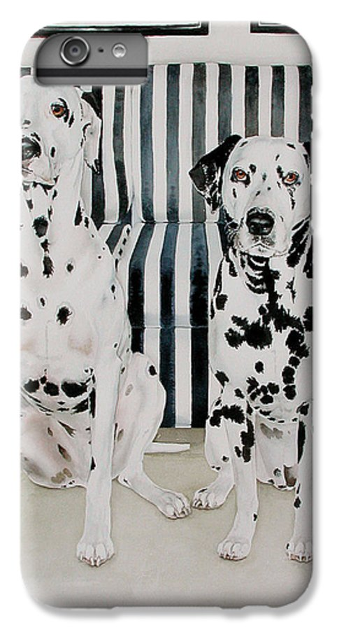 Portrait IPhone 6 Plus Case featuring the painting Stanley And Stelle by Eileen Hale