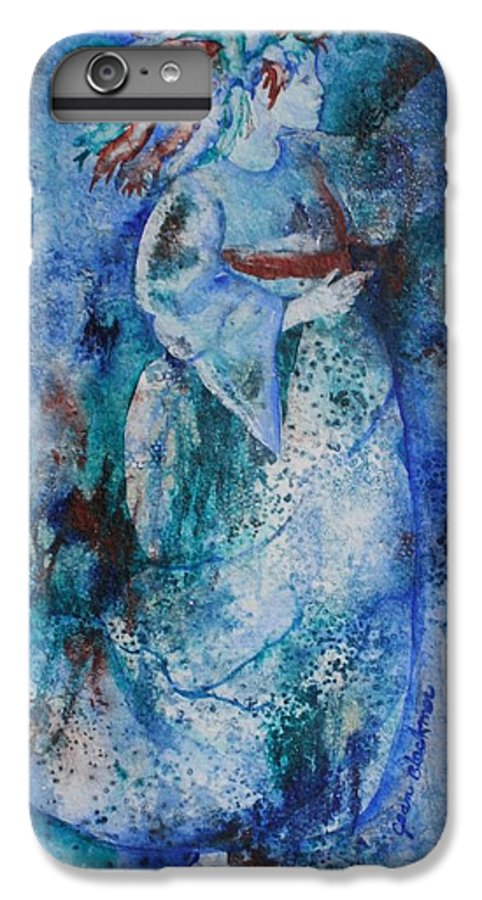 Abstract IPhone 6 Plus Case featuring the painting Star Dancer by Jean Blackmer