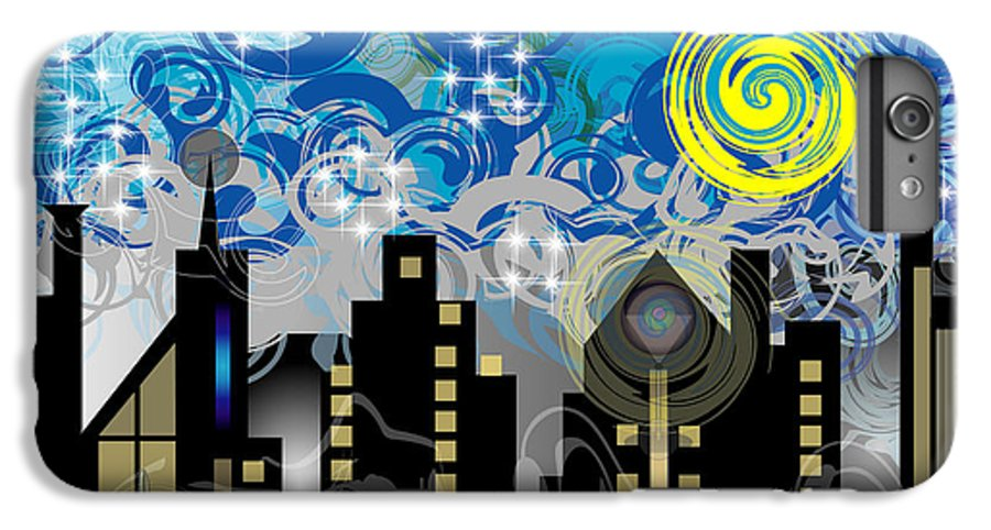 Jazz IPhone 6 Plus Case featuring the digital art Starry Night by George Pasini