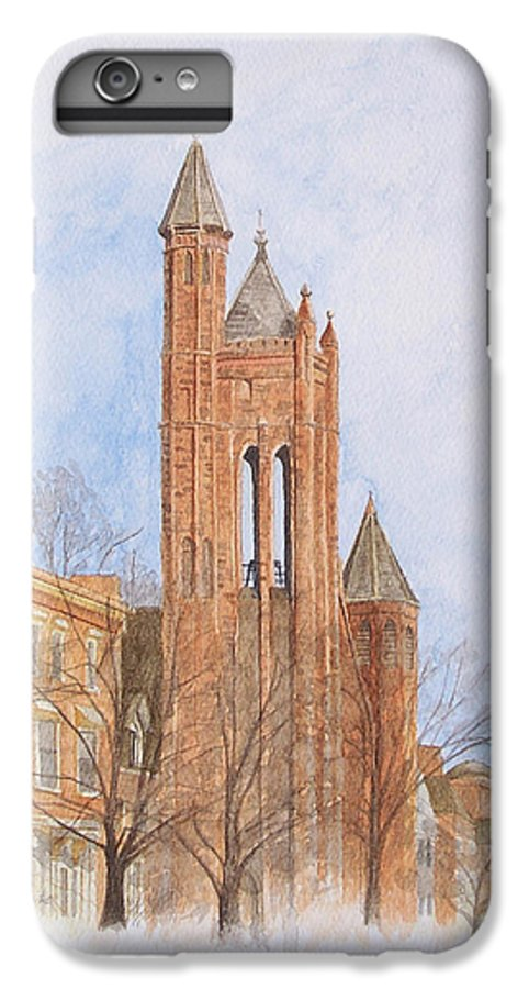 Gothic IPhone 6 Plus Case featuring the painting State Street Church by Dominic White
