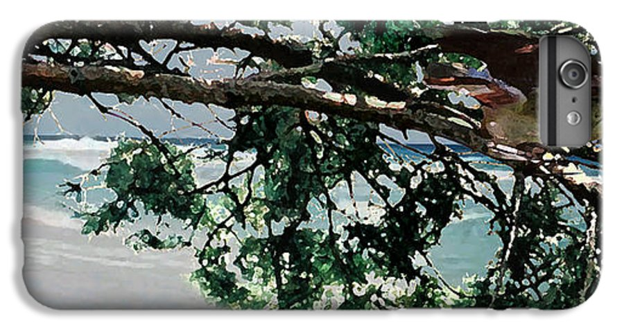 Landscape IPhone 6 Plus Case featuring the painting Stealth by Steve Karol