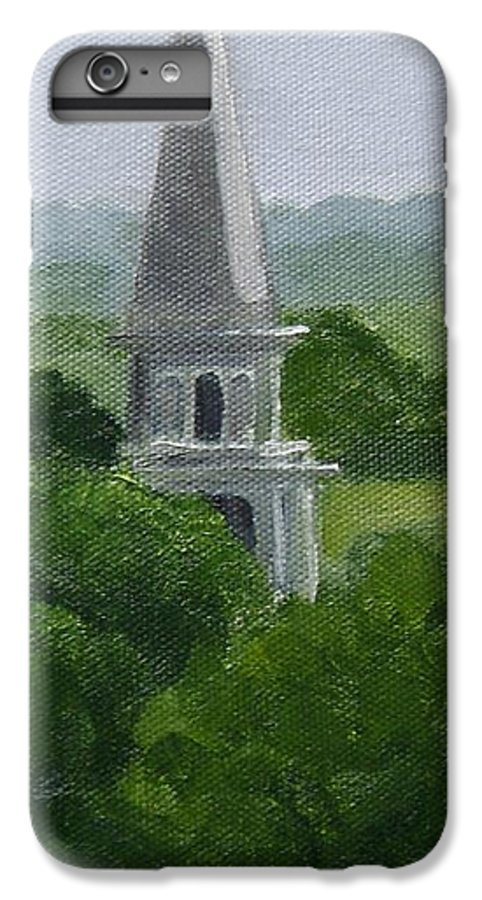 Steeple IPhone 6 Plus Case featuring the painting Steeple by Toni Berry