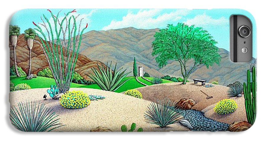 Desert IPhone 6 Plus Case featuring the painting Steves Yard by Snake Jagger