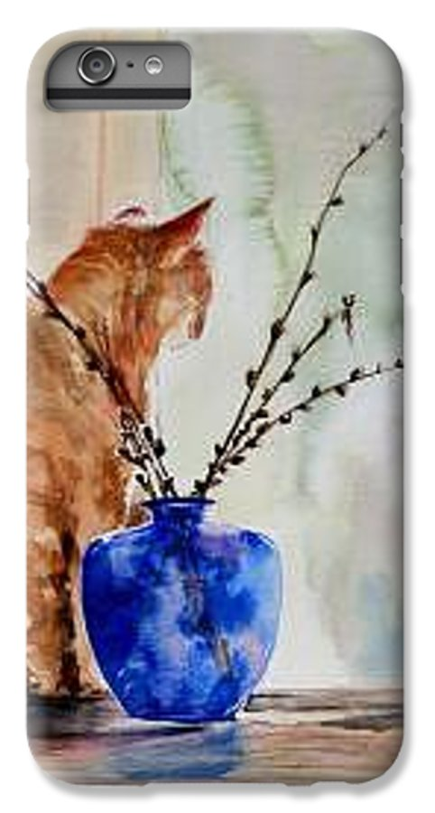 Cat IPhone 6 Plus Case featuring the painting Still Life by Lynee Sapere