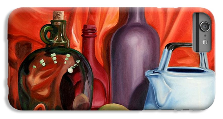 Still Life IPhone 6 Plus Case featuring the painting Still Life With Pear by Maryn Crawford