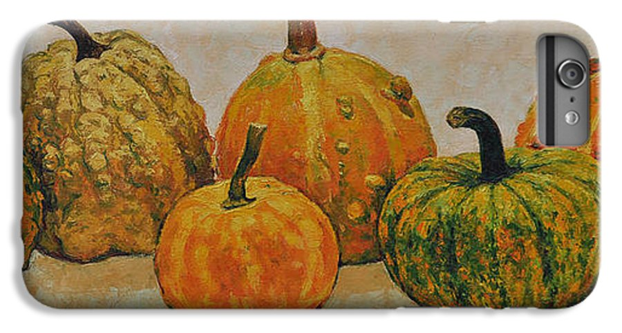 Still Life IPhone 6 Plus Case featuring the painting Still Life With Pumpkins by Iliyan Bozhanov