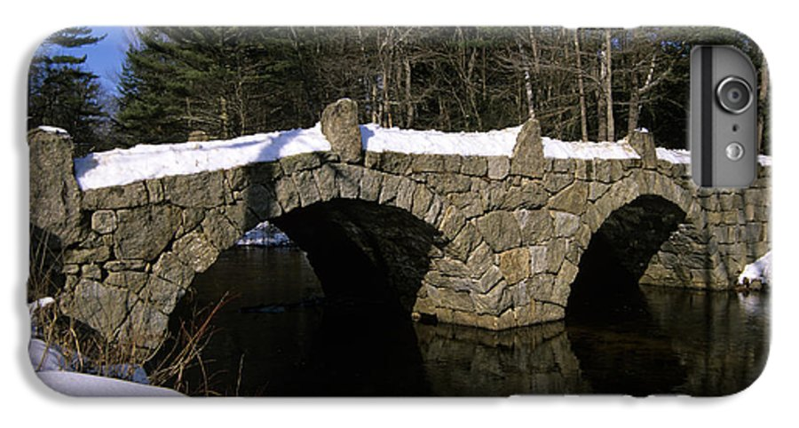 Bridge IPhone 6 Plus Case featuring the photograph Stone Double Arched Bridge - Hillsborough New Hampshire Usa by Erin Paul Donovan