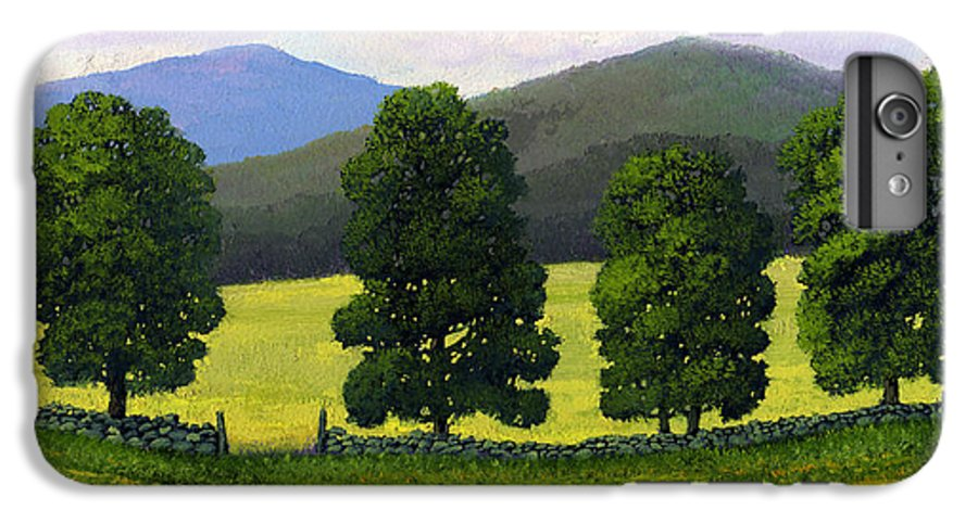 Landscape IPhone 6 Plus Case featuring the painting Stonewall Field by Frank Wilson