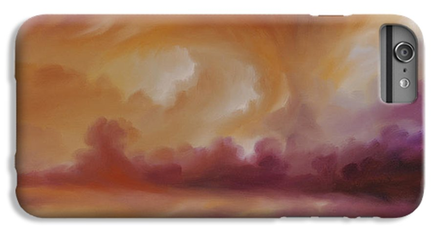 Tempest IPhone 6 Plus Case featuring the painting Storm Clouds 2 by James Christopher Hill