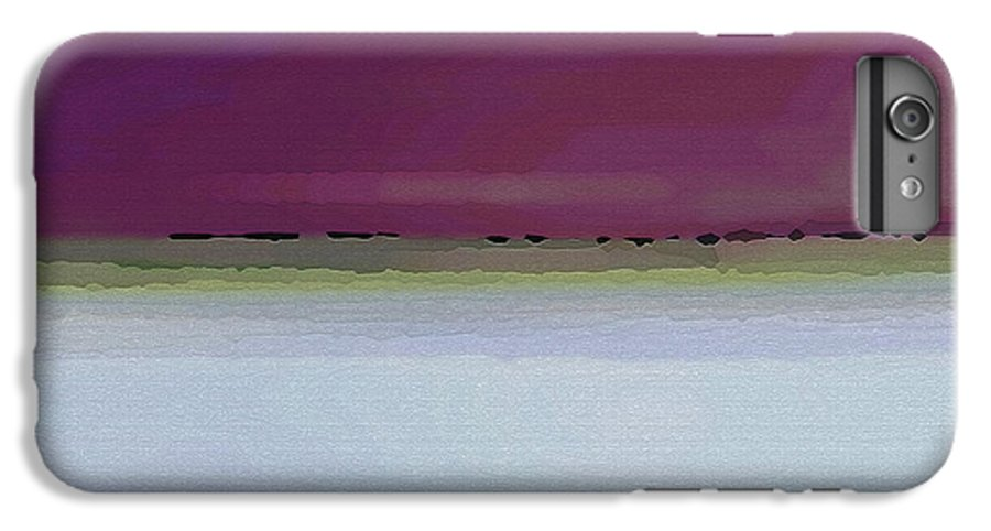 Abstract IPhone 6 Plus Case featuring the digital art Straight Across by Ruth Palmer
