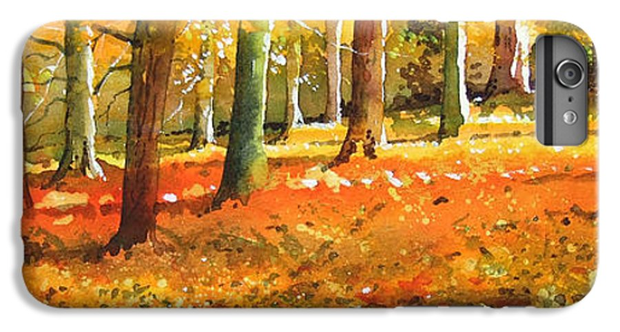Woodland Landscape. IPhone 6 Plus Case featuring the painting Strid Wood by Paul Dene Marlor