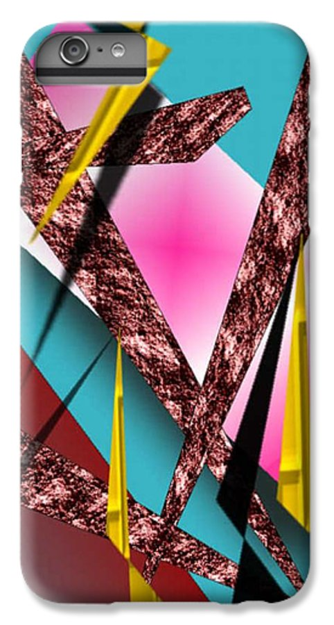 Abstracts IPhone 6 Plus Case featuring the digital art Structure by Brenda L Spencer