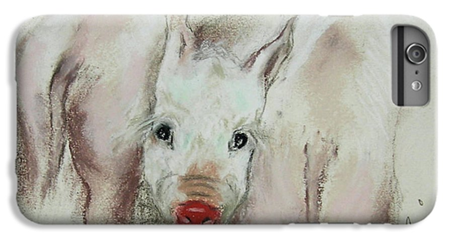 Animal IPhone 6 Plus Case featuring the drawing Stuck In The Middle by Cori Solomon