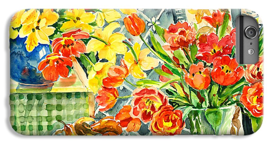 Watercolor IPhone 6 Plus Case featuring the painting Studio Still Life by Alexandra Maria Ethlyn Cheshire