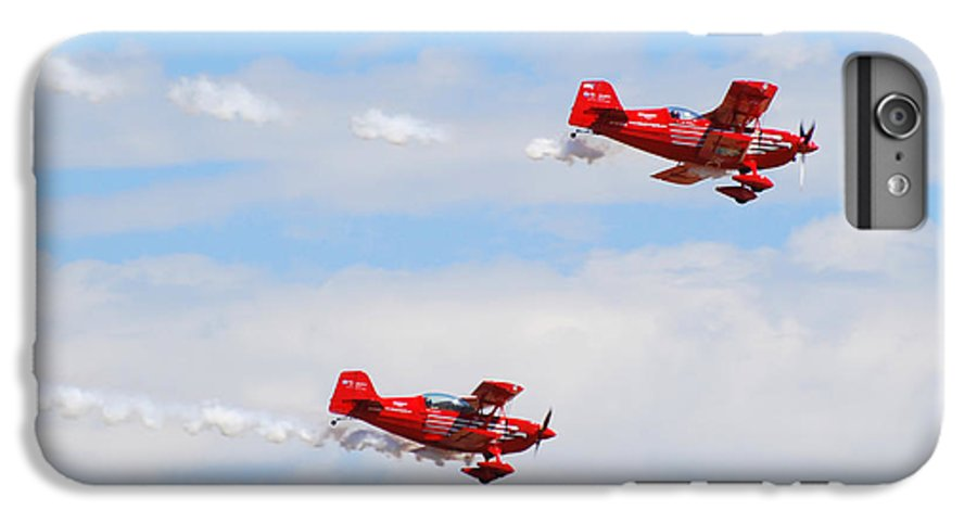 Stunts IPhone 6 Plus Case featuring the photograph Stunt Pilots by Larry Keahey