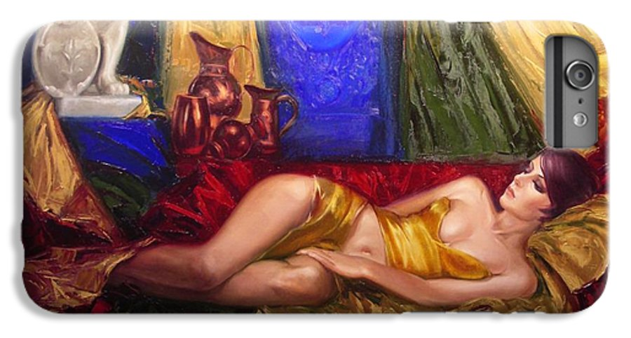 Art IPhone 6 Plus Case featuring the painting Sultan Spouse by Sergey Ignatenko