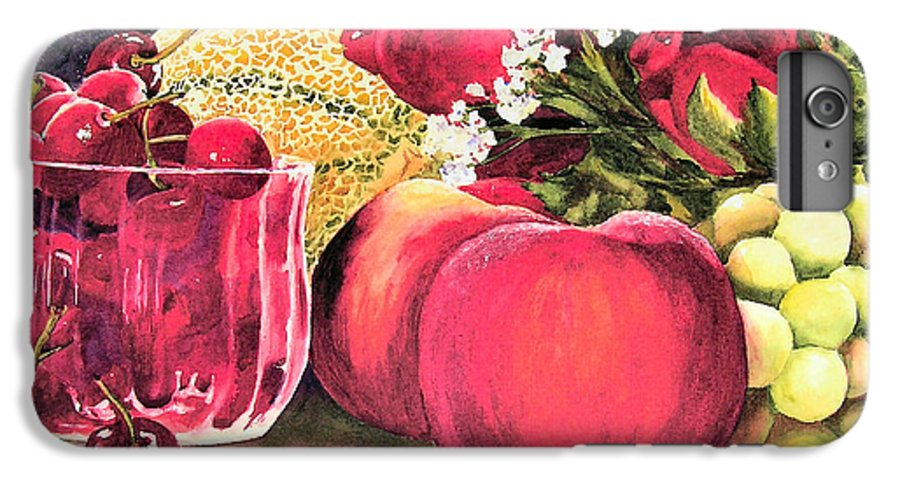 Cherries IPhone 6 Plus Case featuring the painting Summer Bounty by Karen Stark