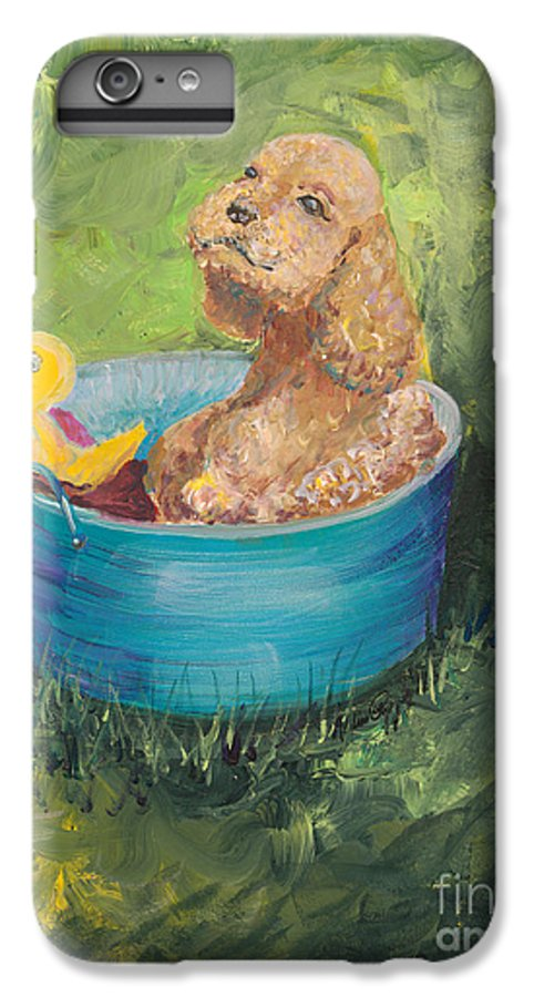 Dog IPhone 6 Plus Case featuring the painting Summer Fun by Nadine Rippelmeyer